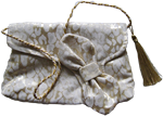Gold and white evening bag