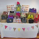 Abelia Handbags stall selling bags, cushions and bunting
