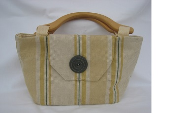 Linen bag with button detail